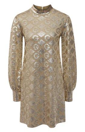 Женское платье с пайетками GUCCI золотого цвета, арт. 649932/XKBRJ | Фото 1