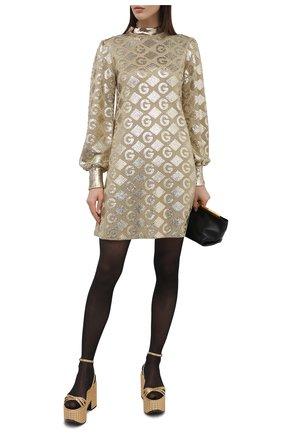Женское платье с пайетками GUCCI золотого цвета, арт. 649932/XKBRJ | Фото 2