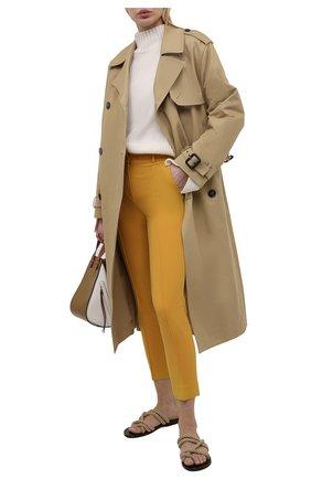 Женские шерстяные брюки LORO PIANA оранжевого цвета, арт. FAL6282 | Фото 2