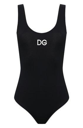 Женский слитный купальник DOLCE & GABBANA черного цвета, арт. 09A71J/FUGA2   Фото 1
