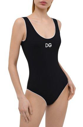 Женский слитный купальник DOLCE & GABBANA черного цвета, арт. 09A71J/FUGA2   Фото 2