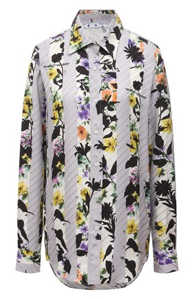 Женская рубашка из вискозы OFF-WHITE серого цвета, арт. 0WGA096S21FAB004   Фото 1