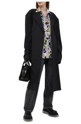 Женская рубашка из вискозы OFF-WHITE серого цвета, арт. 0WGA096S21FAB004   Фото 2