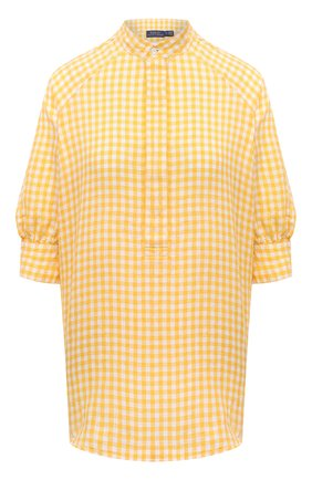 Женская льняная блузка POLO RALPH LAUREN желтого цвета, арт. 211838073 | Фото 1