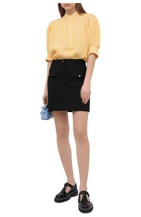 Женская льняная блузка POLO RALPH LAUREN желтого цвета, арт. 211838073 | Фото 2