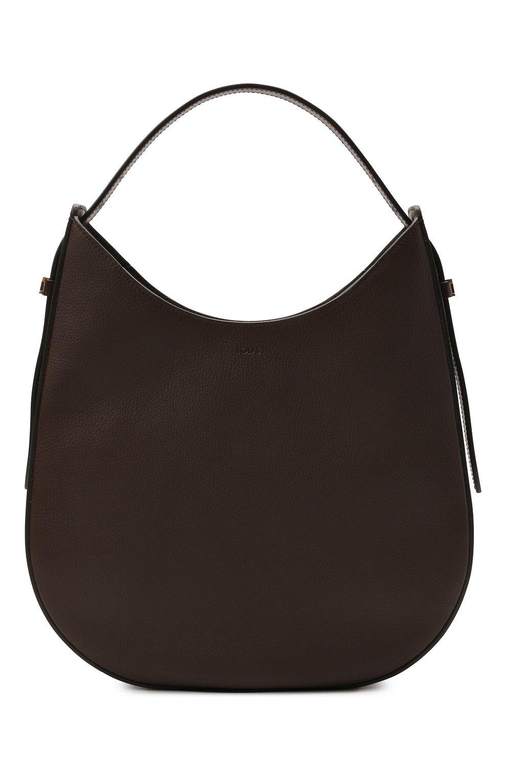 Женская сумка oboe TOD'S темно-коричневого цвета, арт. XBWA0RS0300P6Y | Фото 1 (Сумки-технические: Сумки top-handle; Материал: Натуральная кожа; Размер: large)