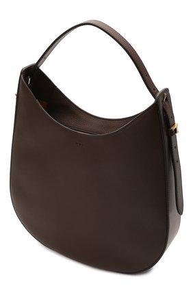 Женская сумка oboe TOD'S темно-коричневого цвета, арт. XBWA0RS0300P6Y | Фото 4 (Сумки-технические: Сумки top-handle; Материал: Натуральная кожа; Размер: large)