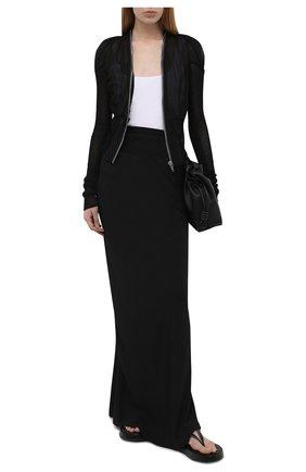 Женский шелковый жакет RICK OWENS черного цвета, арт. RP21S3724/G | Фото 2