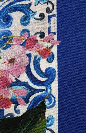 Женский хлопковый шарф-бандо DOLCE & GABBANA голубого цвета, арт. FS215A/G0TFX | Фото 2