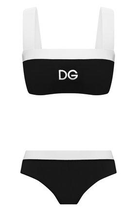 Женский раздельный купальник DOLCE & GABBANA черно-белого цвета, арт. 08A88J/FUGA2 | Фото 1