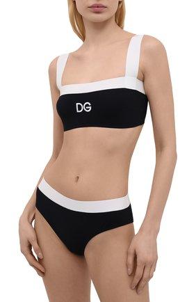 Женский раздельный купальник DOLCE & GABBANA черно-белого цвета, арт. 08A88J/FUGA2 | Фото 2