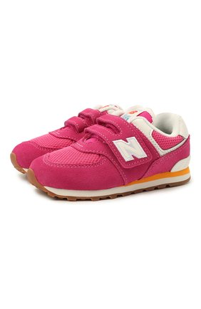 Детские кроссовки 574 vintage brights NEW BALANCE розового цвета, арт. IV574HP2/M   Фото 1