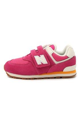 Детские кроссовки 574 vintage brights NEW BALANCE розового цвета, арт. IV574HP2/M   Фото 2