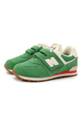 Детские кроссовки 574 vintage brights NEW BALANCE зеленого цвета, арт. IV574HE2/M   Фото 1