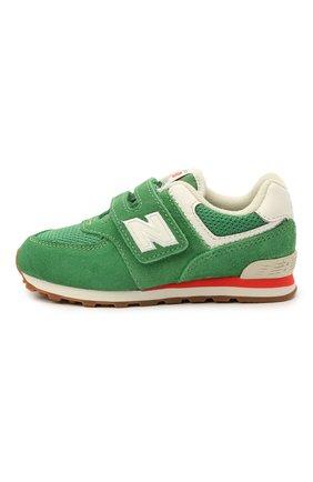 Детские кроссовки 574 vintage brights NEW BALANCE зеленого цвета, арт. IV574HE2/M   Фото 2