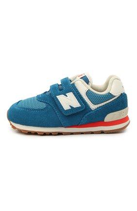 Детские кроссовки 574 vintage brights NEW BALANCE синего цвета, арт. IV574HC2/M   Фото 2