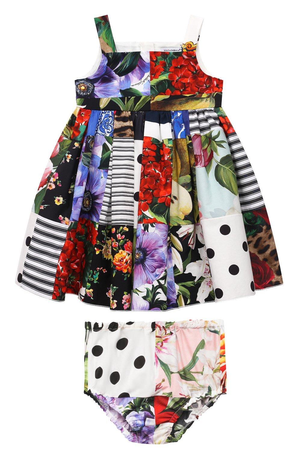 Женский комплект из платья и шорт DOLCE & GABBANA разноцветного цвета, арт. L22DT0/G7YQ0 | Фото 1