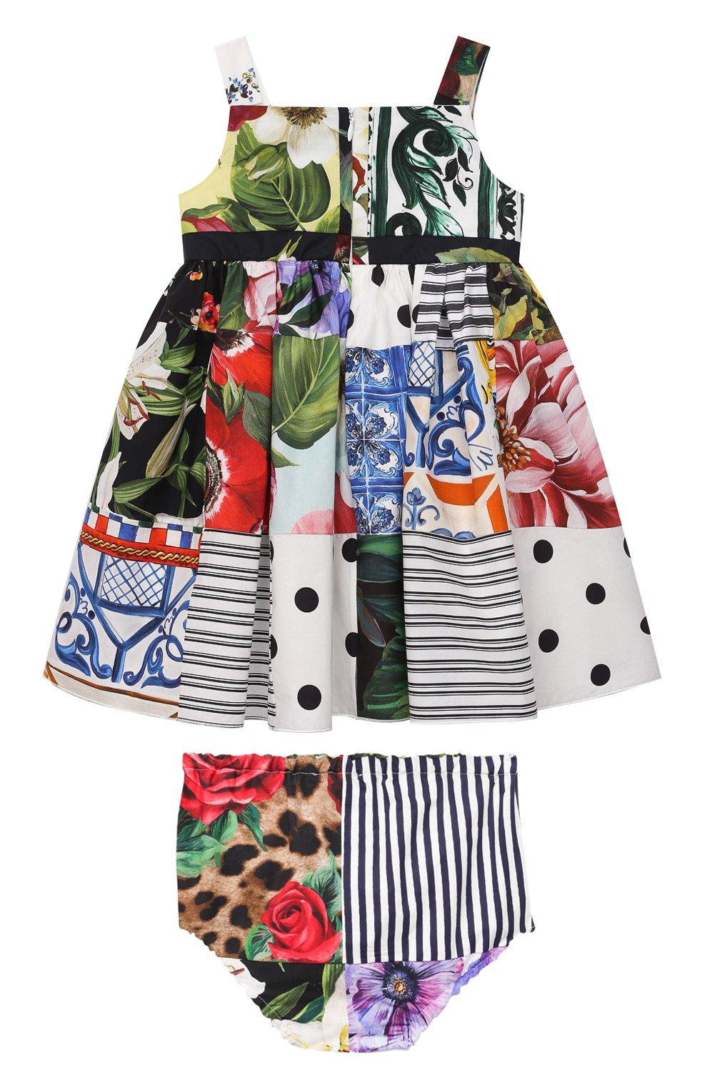 Женский комплект из платья и шорт DOLCE & GABBANA разноцветного цвета, арт. L22DT0/G7YQ0 | Фото 2