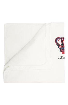 Детского хлопковое одеяло DOLCE & GABBANA белого цвета, арт. LNJA88/G7WUF | Фото 1