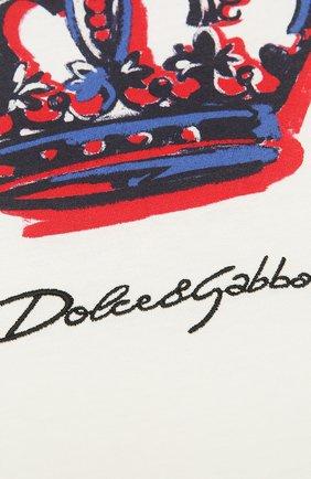Детского хлопковое одеяло DOLCE & GABBANA белого цвета, арт. LNJA88/G7WUF | Фото 2
