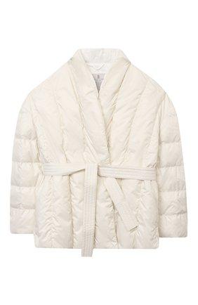 Детская пуховая куртка BRUNELLO CUCINELLI бежевого цвета, арт. BH504J401A   Фото 1 (Материал внешний: Синтетический материал; Рукава: Длинные; Материал утеплителя: Пух и перо; Девочки Кросс-КТ: Пуховик-верхняя одежда; Материал подклада: Синтетический материал; Ростовка одежда: 4 года   104 см, 6 лет   116 см)