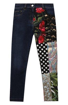 Детские джинсы DOLCE & GABBANA разноцветного цвета, арт. L52F20/G7YPR/8-14   Фото 1 (Материал подклада: Вискоза; Материал внешний: Хлопок; Кросс-КТ: джинсы; Ростовка одежда: 10 - 11 лет   140 - 146см, 12 лет   152 см, 8 лет   128 см)