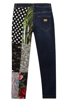Детские джинсы DOLCE & GABBANA разноцветного цвета, арт. L52F20/G7YPR/8-14   Фото 2 (Материал подклада: Вискоза; Материал внешний: Хлопок; Кросс-КТ: джинсы; Ростовка одежда: 10 - 11 лет   140 - 146см, 12 лет   152 см, 8 лет   128 см)