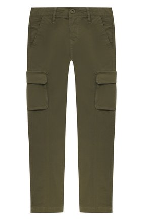 Детские хлопковые брюки JACOB COHEN хаки цвета, арт. P1314 T-10009-V   Фото 1