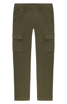 Детские хлопковые брюки JACOB COHEN хаки цвета, арт. P1314 J-10009-V   Фото 1