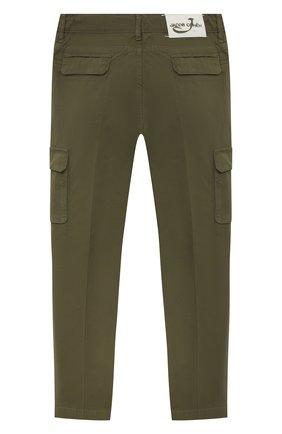 Детские хлопковые брюки JACOB COHEN хаки цвета, арт. P1314 J-10009-V   Фото 2
