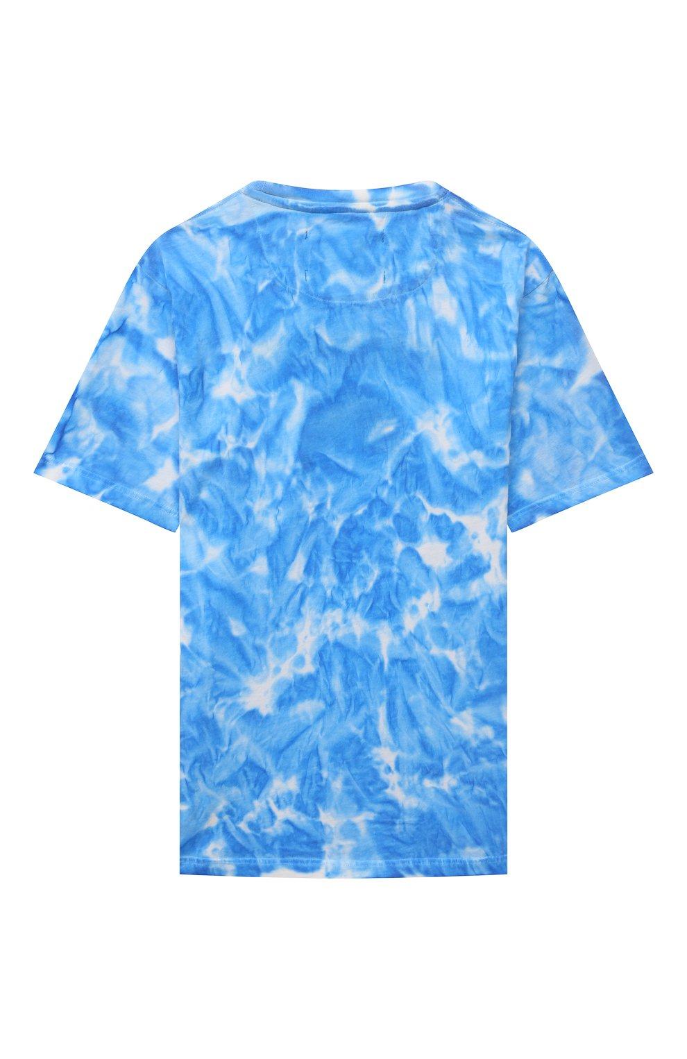 Детская хлопковая футболка SPRAYGROUND синего цвета, арт. 21PESPY181   Фото 2