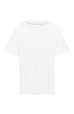 Детская хлопковая футболка SPRAYGROUND белого цвета, арт. 21PESPY182   Фото 2