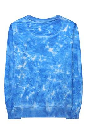 Детская хлопковый свитшот SPRAYGROUND голубого цвета, арт. 21PESPY183   Фото 2