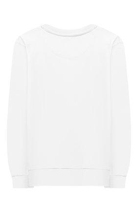 Детский хлопковый свитшот SPRAYGROUND белого цвета, арт. 21PESPY185   Фото 2