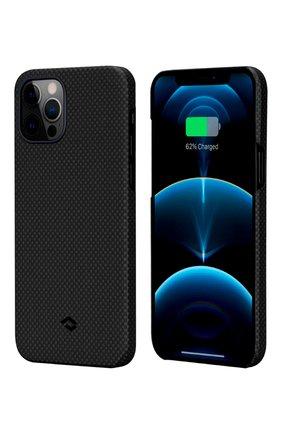 Чехол magez для iphone 12/12 pro PITAKA темно-серого цвета, арт. KI1202P | Фото 1