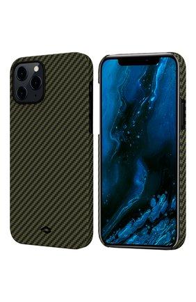 Чехол magez для iphone 12/12 pro PITAKA зеленого цвета, арт. KI1205P | Фото 1