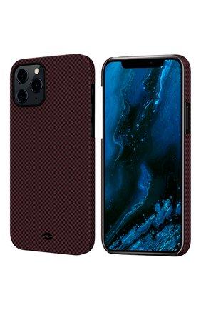 Чехол magez для iphone 12/12 pro PITAKA бордового цвета, арт. KI1204P | Фото 1