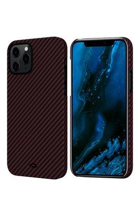 Чехол magez для iphone 12/12 pro PITAKA бордового цвета, арт. KI1203P | Фото 1