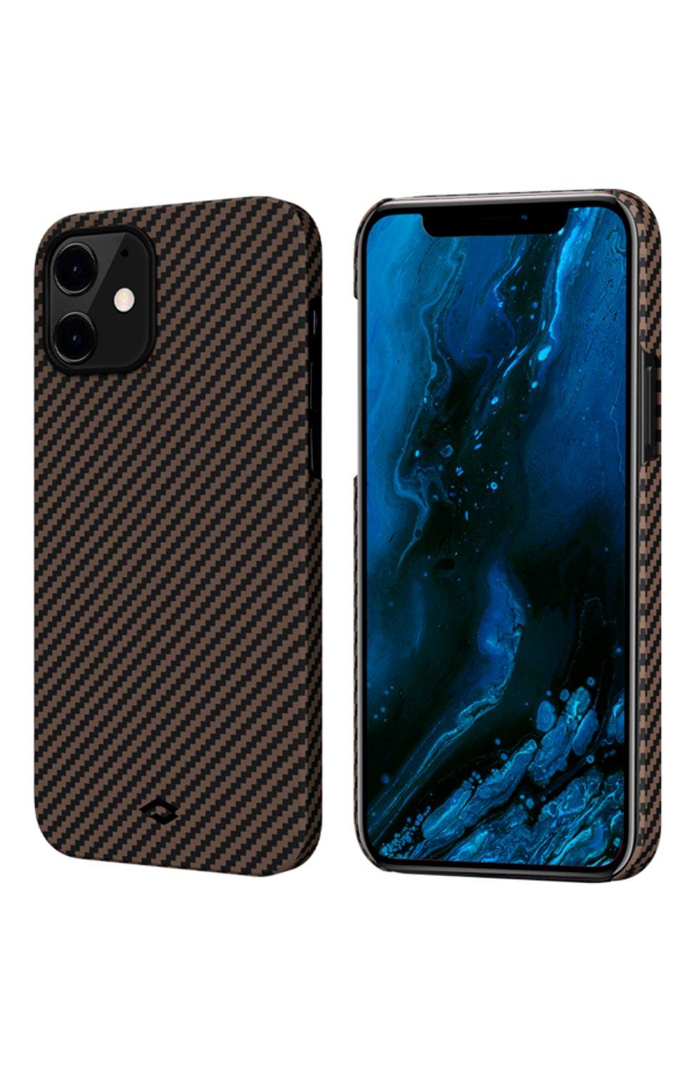 Чехол magez для iphone 12 mini PITAKA коричневого цвета, арт. KI1206 | Фото 1