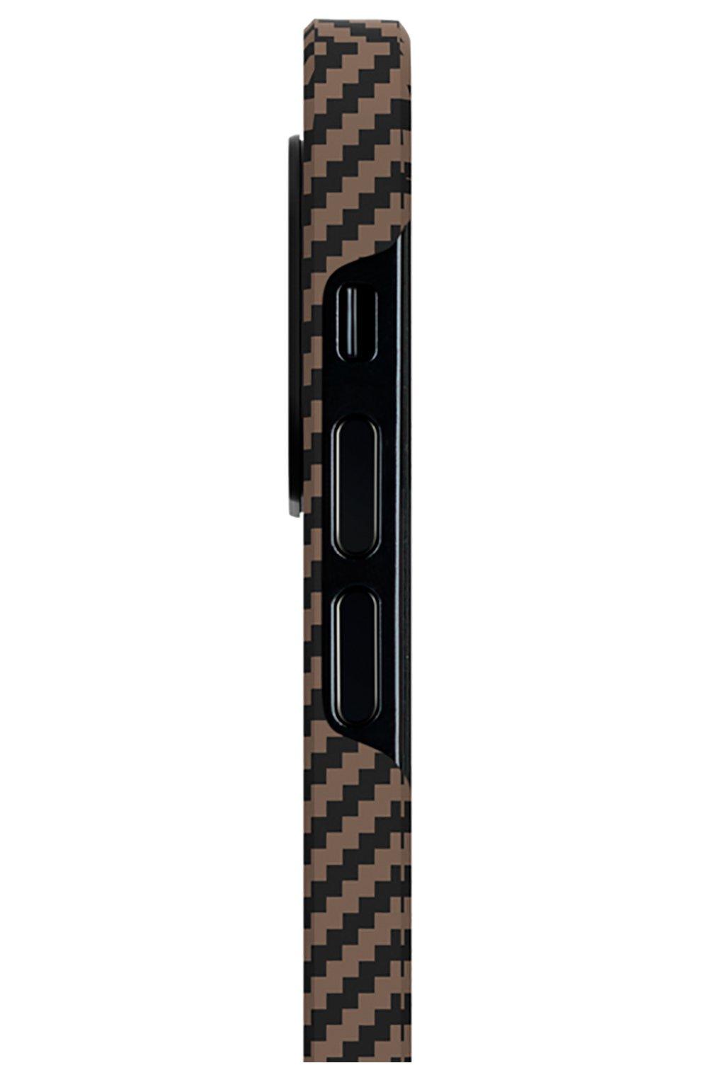 Чехол magez для iphone 12 mini PITAKA коричневого цвета, арт. KI1206 | Фото 2