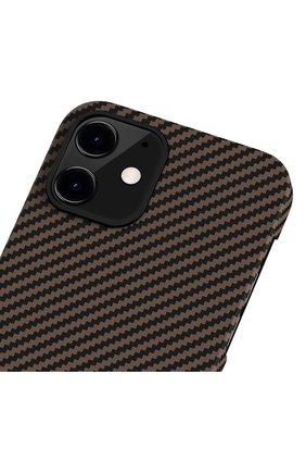 Чехол magez для iphone 12 mini PITAKA коричневого цвета, арт. KI1206 | Фото 3