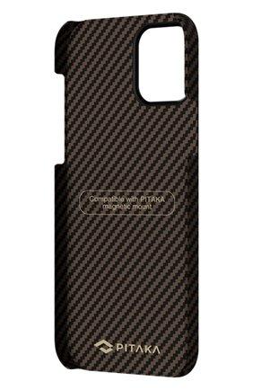 Чехол magez для iphone 12 mini PITAKA коричневого цвета, арт. KI1206 | Фото 4