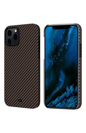 Чехол magez для iphone 12/12 pro PITAKA коричневого цвета, арт. KI1206P | Фото 1