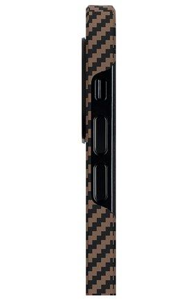Чехол magez для iphone 12/12 pro PITAKA коричневого цвета, арт. KI1206P | Фото 2