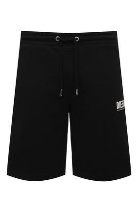 Мужские хлопковые шорты DIESEL черного цвета, арт. A02465/0BAWT | Фото 1