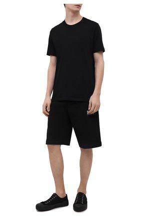 Мужские хлопковые шорты DIESEL черного цвета, арт. A02465/0BAWT | Фото 2