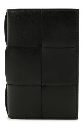 Мужской кожаный футляр для кредитных карт BOTTEGA VENETA черного цвета, арт. 649602/VBWD2 | Фото 1
