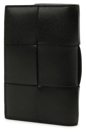 Мужской кожаный футляр для кредитных карт BOTTEGA VENETA черного цвета, арт. 649602/VBWD2 | Фото 2