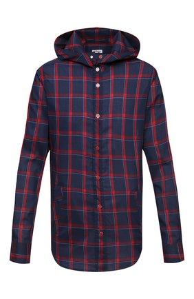 Мужская рубашка KITON синего цвета, арт. UMCMARH0761503 | Фото 1