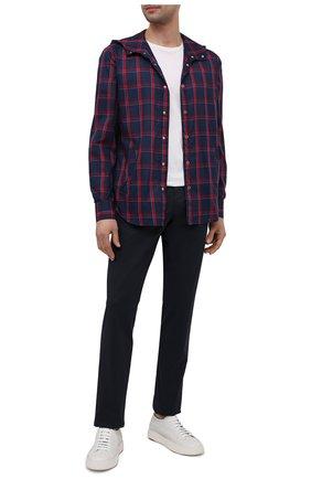 Мужская рубашка KITON синего цвета, арт. UMCMARH0761503 | Фото 2